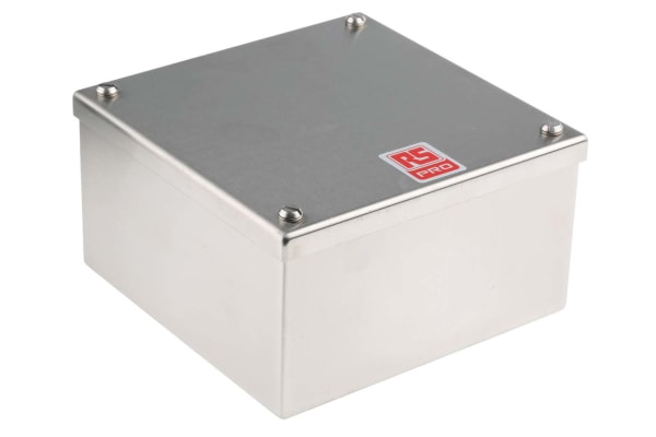 Product image for S/steel adaptable box,160x160x85mm