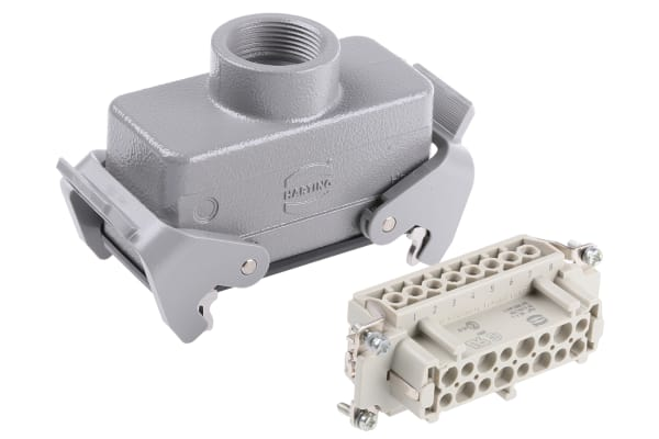 Product image for 2 LEVER 16WAY COUPLER HOOD,16A PG21
