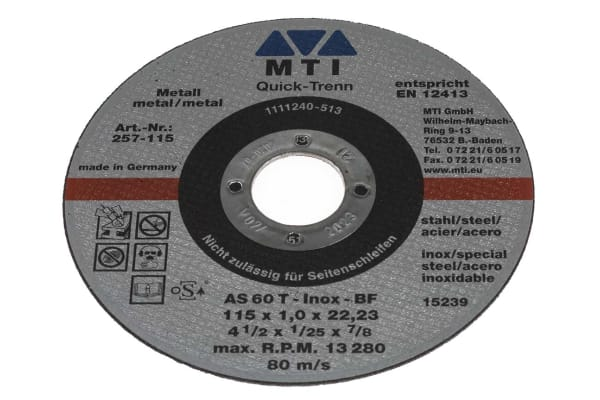 Product image for 1MM CUT-OFF-WHEEL, 115MM