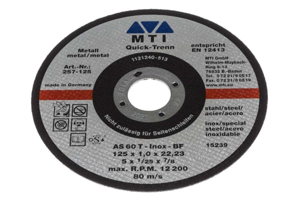 Product image for 1MM CUT-OFF-WHEEL, 125MM