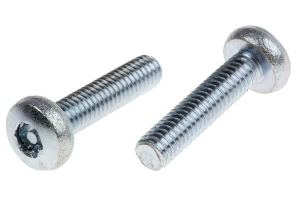 Product image for ZnPt steel 6 lobe pan head screw,M6x25mm