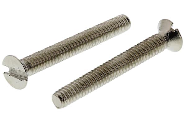 Product image for NiPt brass slot csk head screw,M2x16mm