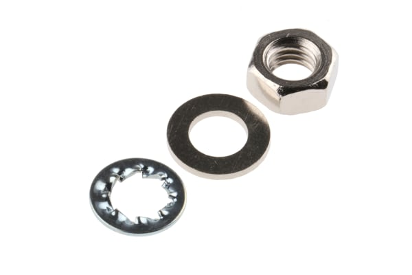 Product image for kit of assorted M5 brass nuts & washers