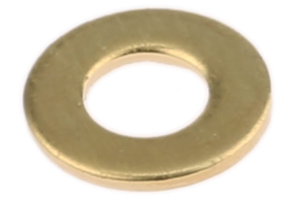 Product image for Self colour brass metric washer,M4