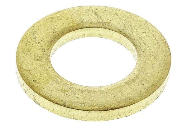 Product image for Self colour brass metric washer,M12