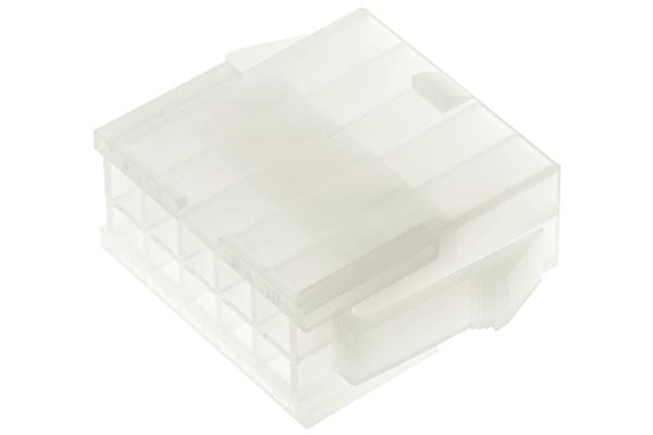 Product image for 10 way dual row panel mount plug