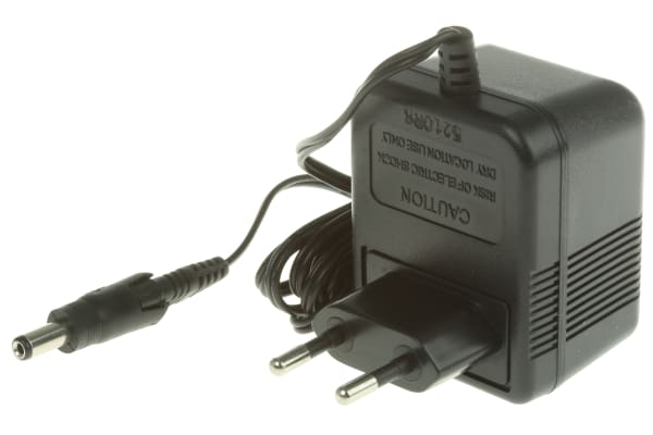 Product image for 2PIN EURO REGULATED ADAPTER,12VDC 3W