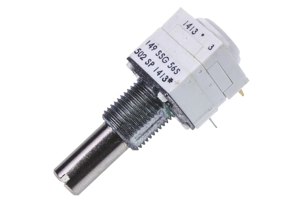 Product image for 149 1SECTION CERMET POT ROTARYSWITCH,5K