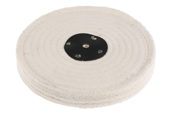 Product image for 8in white stitched cotton polishing mop