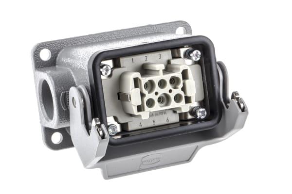 Product image for 1 Lever 6 way metal SMT skt, 1xM20 16A