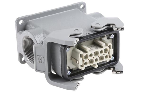 Product image for 2 Lever 10 way metal SMT skt, 2xM32 16A