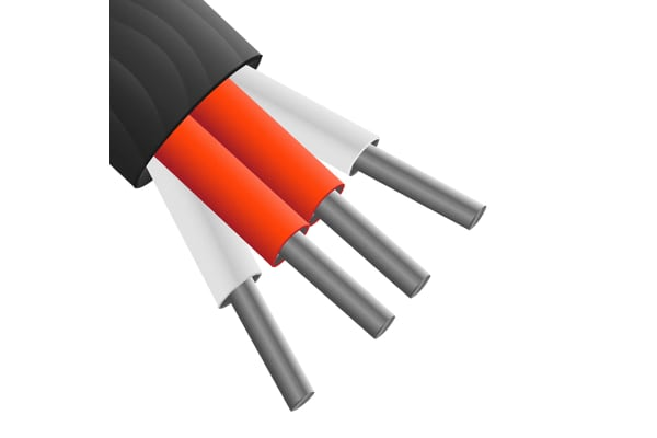 Product image for Black PTFE 4core PRT extension cable,10m