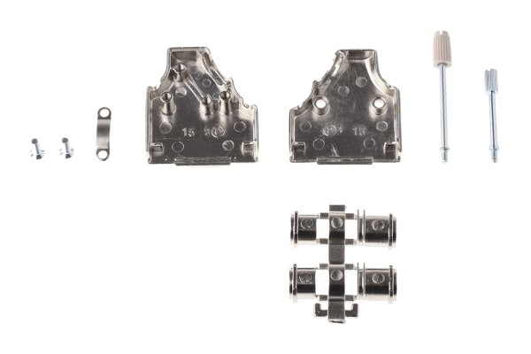 Product image for MH Connectors MHDM35 Zinc Angled D-sub Connector Backshell, 15 Way, Strain Relief