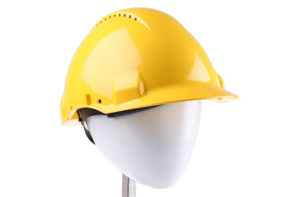 Product image for 3M PELTOR G3000 Adjustable Yellow Hard Hat, Ventilated