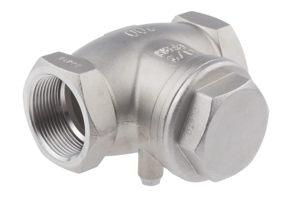 Product image for S/steel swing check valve,1 1/2in BSP F