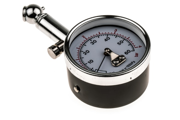 Product image for Tyre pressure guage,dial type,60psi