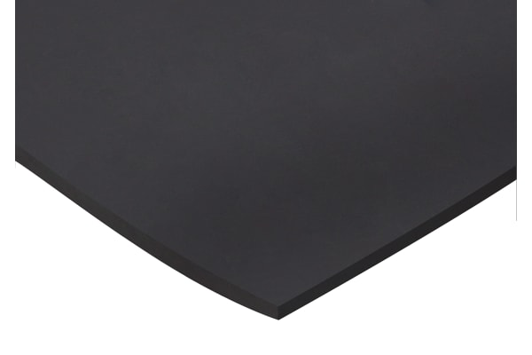 Product image for Natural Rubber, Black 1000x600x6mm