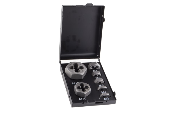 Product image for 7 piece die nut set,M3 - M12