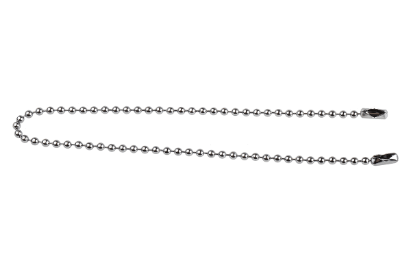 Product image for Chrome plated brass bead chain w/joiners