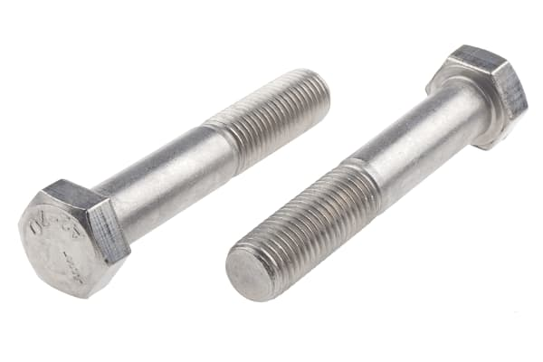 Product image for A2 s/steel hex head bolt M16 x 90mm