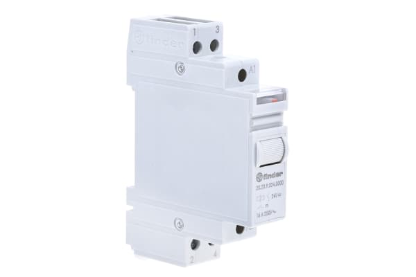 Product image for 16A 1NO 1NC step DIN relay, 24Vdc