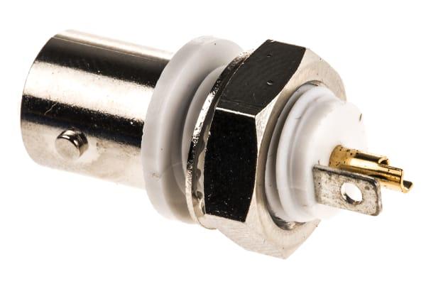 Product image for BNC Ni-pl insul bulkhead socket, 75 ohm