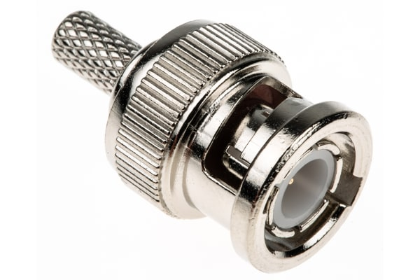 Product image for BNC Ni-pl straight plug, 50 ohm, RG58