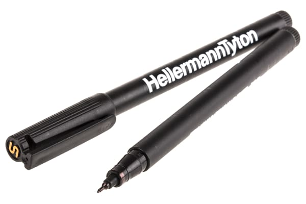 Product image for RiteOn cable black marker pens (2)