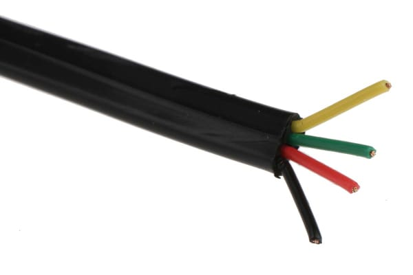 Product image for 4 CORE TEL CABLE 100M BLACK