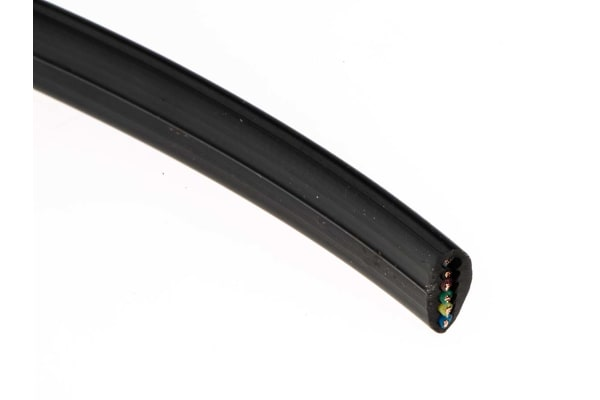 Product image for 6 CORE TEL CABLE 50M BLACK