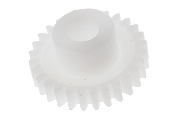 Product image for Delrin spur gear - 0.5 module 28 teeth