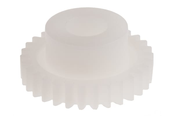 Product image for Delrin spur gear - 0.5 module 30 teeth
