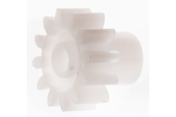 Product image for Delrin spur gear - 0.8 module 12 teeth