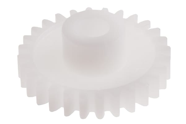 Product image for Delrin spur gear - 0.8 module 25 teeth