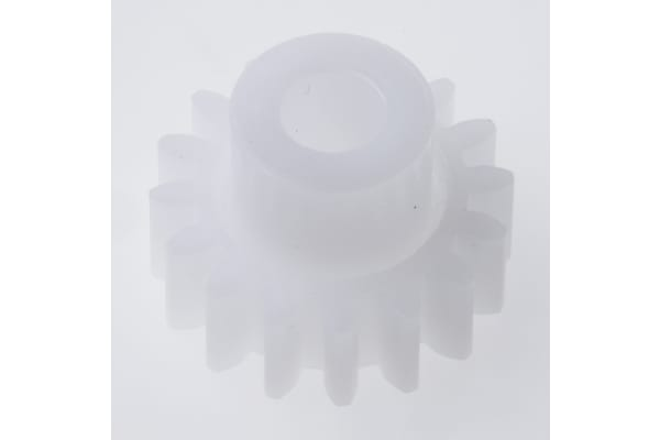 Product image for Delrin spur gear - 1.0 module 16 teeth