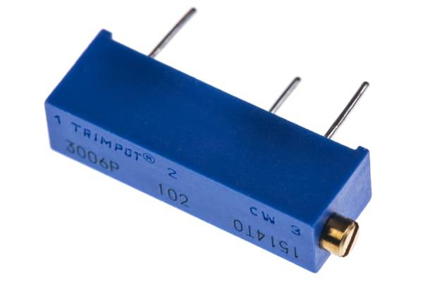 Product image for 3006P side adj cermet trimmer,1K 19mm