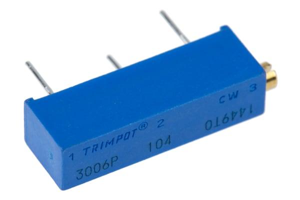 Product image for 3006P side adj cermet trimmer,100K 19mm