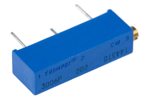 Product image for 15 turn cermet trimmer,2K 19mm 750mW