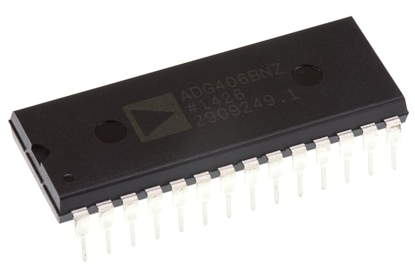 Product image for 16:1 analogue multiplexer, ADG406B DIP28