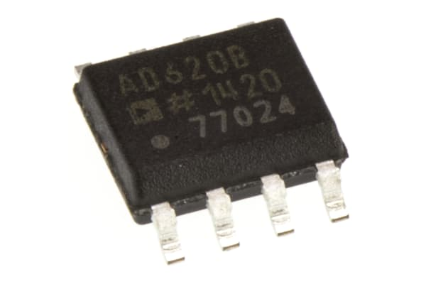 Product image for AD620 LO POWER INSTRUMENTATION AMPLIFIER