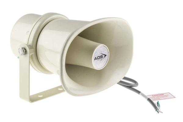 Product image for 10W rectangular horn speaker,IP66,ABS