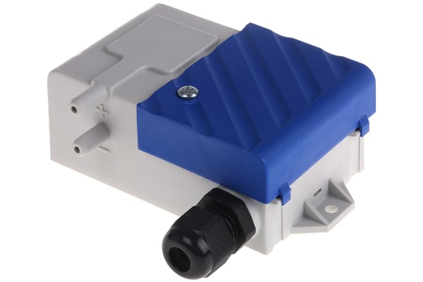 Product image for Gems Sensors Pressure Sensor for Air, Non-Conductive Gas , 100Pa Max Pressure Reading Analogue