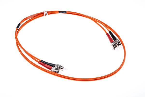 Product image for Duplex ST/ST patch lead,50/125um 1m