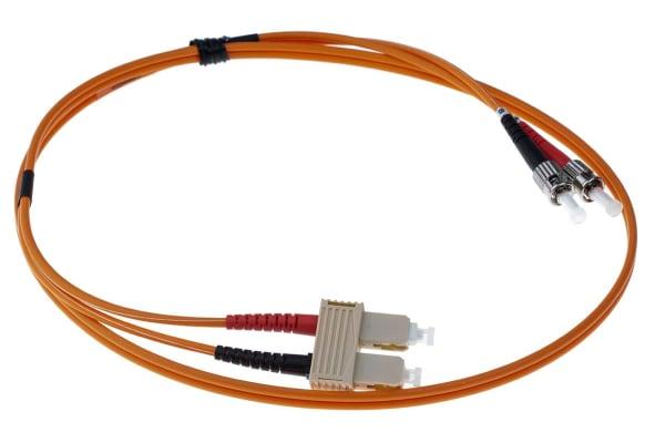 Product image for Duplex ST-SC patch lead,62.5/125um 1m