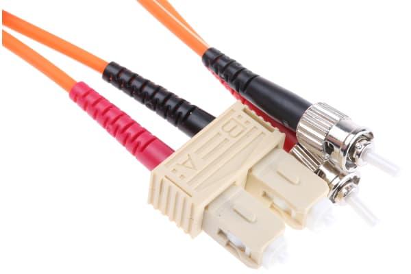 Product image for Duplex ST-SC patch lead,62.5/125um 2m