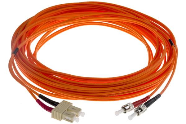 Product image for ST-SC patchlead OM1 Duplex Orange 10m