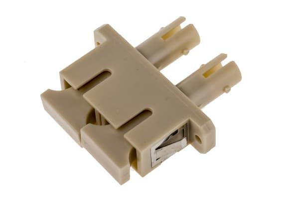 Product image for Hybrid SC-ST MM Duplex beige Adaptor