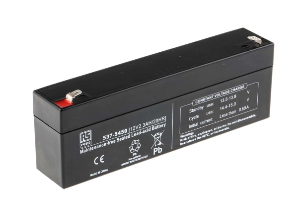 Product image for RS Sealed lead-acid battery,12V 2.3Ah