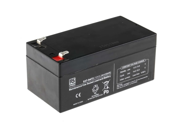 Product image for RS Sealed Lead-acid Battery,12V 3.2Ah