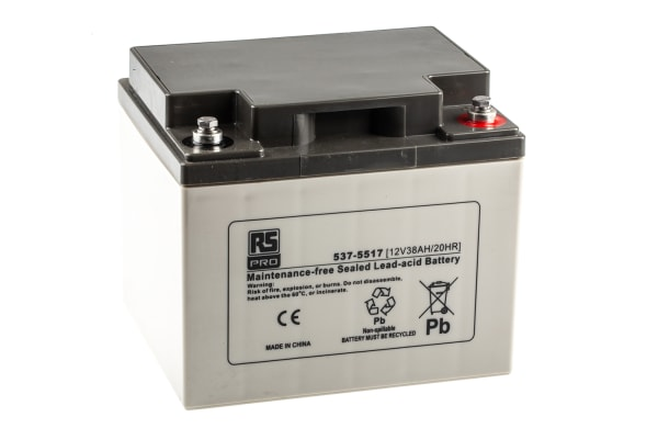Product image for RS Sealed lead-acid battery,12V 38Ah